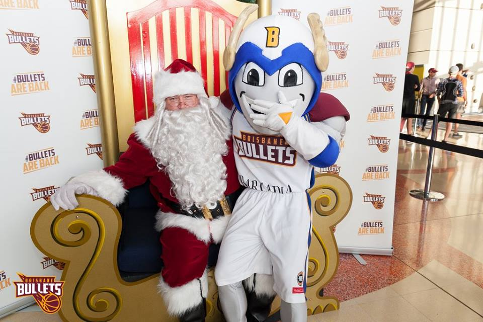 Santa with Boom from the Brisbane Bullets